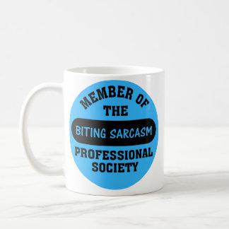 Professionally trained to make sarcastic comments basic white mug