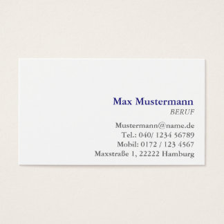 Professionally visiting cards