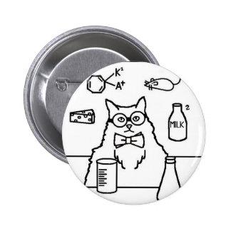 Professor Cat 6 Cm Round Badge