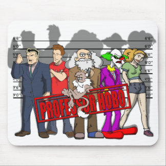 "Professor Hobo ""Unusual Suspects"" Mousepad"