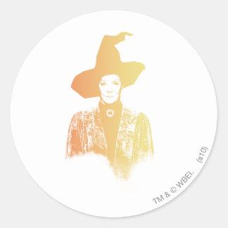 Professor Minerva McGonagall Round Sticker