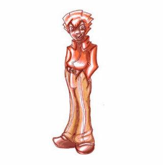Professor Redline Standing Photo Sculpture