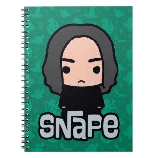 Professor Snape Cartoon Character Art Spiral Notebook
