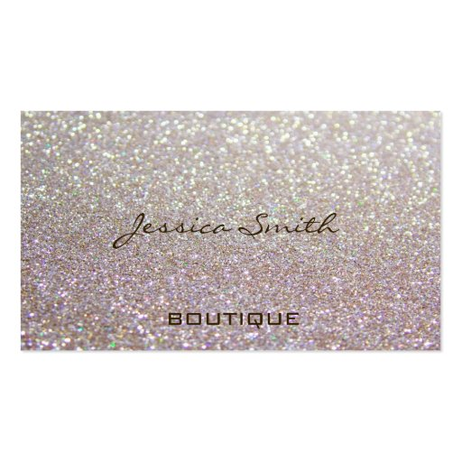 Proffesional glamorous elegant glittery business cards