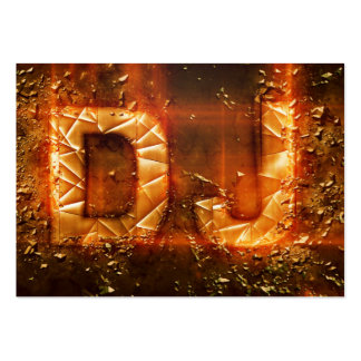 Proffesional gold exploding DJ logo business card