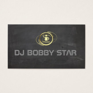 Proffesioneel gold DJ pictogram visiting card