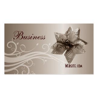 Profile Business Card Beige Swirl Jewel