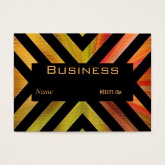 Profile Business Card Retro Black Colorful Stripe