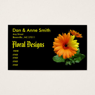 PROFILE BUSINESS CARD TEMPLATE-GERBER DAISY