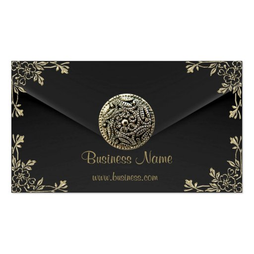Profile Business Sepia Black Velvet Look Business Card Templates