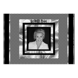 Profile Card Art Deco Silver Black Add Logo Photo Pack Of Chubby Business Cards