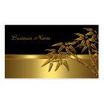 Profile Card Asian Black Gold Bamboo 2
