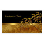 Profile Card Asian Black Gold Bamboo Business Cards