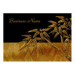 Profile Card Asian Black Gold Bamboo Business Card