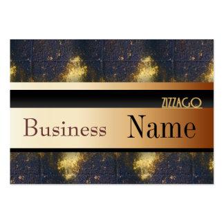 Profile Card Business Black Gold Brick 65 Business Card Templates