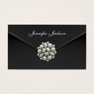Profile Card Business Black Velvet Pearl Jewel