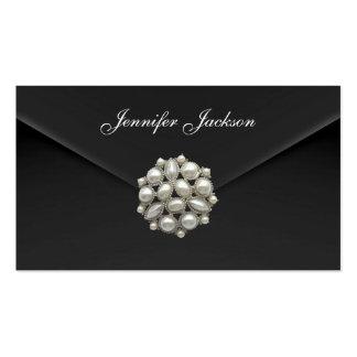 Profile Card Business Black Velvet Pearl Jewel Pack Of Standard Business Cards