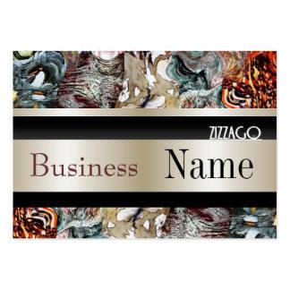 Profile Card Business Cream Black Grunge Business Card Template