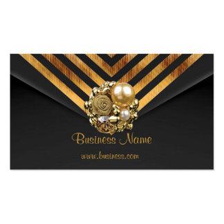 Profile Card Business Gold Jewel Black Velvet Stri Pack Of Standard Business Cards