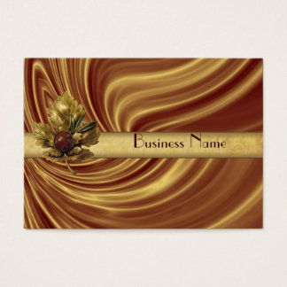 Profile Card Business Gold Silk