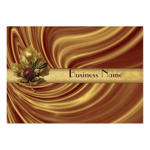 Profile Card Business Gold Silk Business Card Template