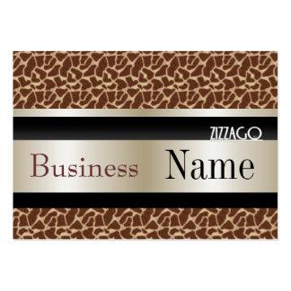 Profile Card Business Leopard Animal Cream Black Business Card Templates