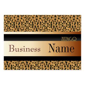 Profile Card Business Leopard Animal Gold Black Business Cards