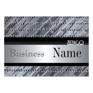 Profile Card Business Metal look Silver Black Business Card Template