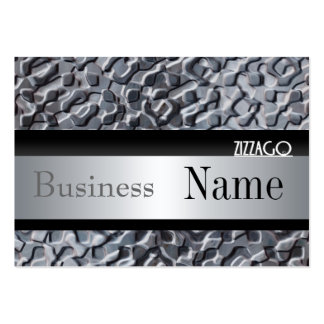 Profile Card Business Metal look Silver Black Business Cards