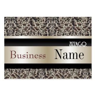 Profile Card Business Ocelot Animal Cream Black Business Cards
