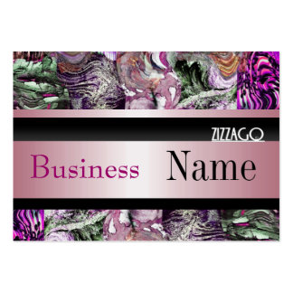 Profile Card Business Pink Black Grunge Business Card Template