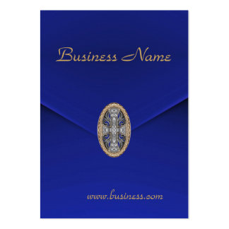Profile Card Business Rich Blue Velvet Jewel Business Card Template