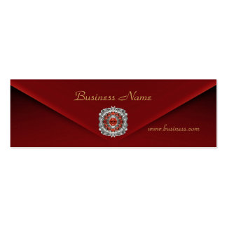 Profile Card Business Rich Red Velvet Diamond Business Cards