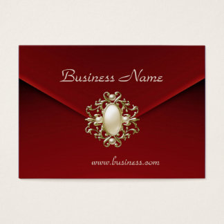 Profile Card Business Rich Red Velvet Pearl Jewel