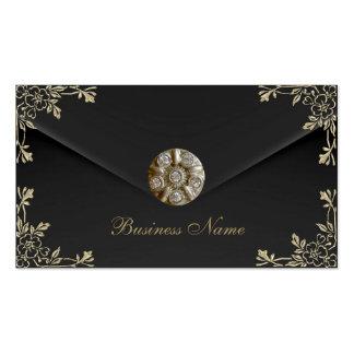 Profile Card Business Sepia Black Velvet Jewel Pack Of Standard Business Cards
