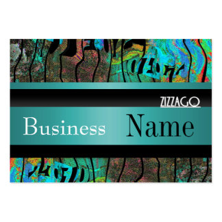 Profile Card Business Teal Black Grunge Business Card Template