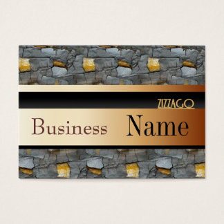 Profile Card Business Tree Black Gold 55