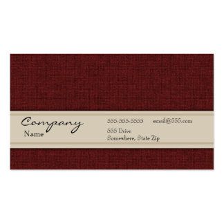 Profile Card - Maroon Textile Texture Pack Of Standard Business Cards