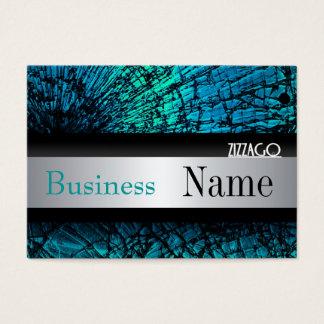Profile Card Metal look Silver Black Grunge
