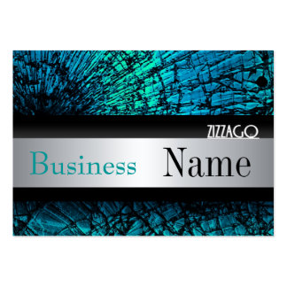 Profile Card Metal look Silver Black Grunge Pack Of Chubby Business Cards