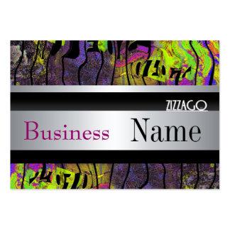 Profile Card Metal look Silver Black Grunge Business Cards