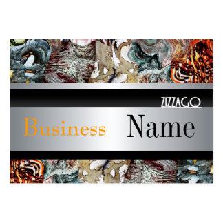 Profile Card  Metal Look Silver Black Grunge Business Card Templates