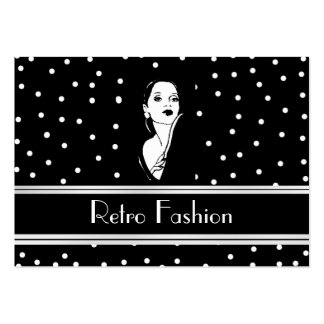 Profile Card Retro Fashion Vintage 2 Business Card Templates