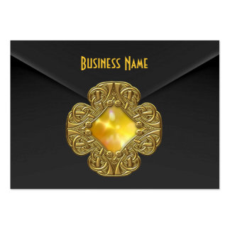 Profile Card Rich Black Velvet Yellow Gold Jewel Business Cards