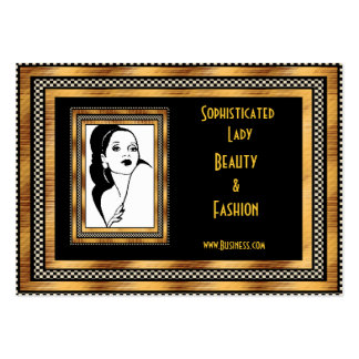 Profile Card Sophisticated Lady Beauty Fashion Pack Of Chubby Business Cards