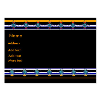 Profile Card Stars Stripes Black Blue Yellow Business Card