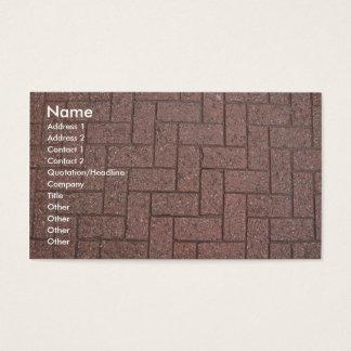 Profile Card Template - Brick Pavers Texture