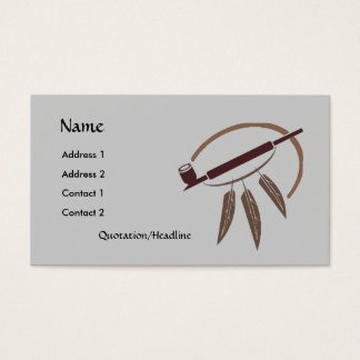 Profile Card Template - Peace Pipe