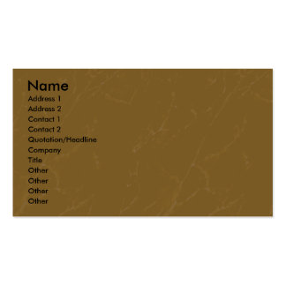 Profile Card Template - Tan Marble Texture Pack Of Standard Business Cards