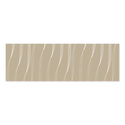 Profile card vanilla pud beige business cards
